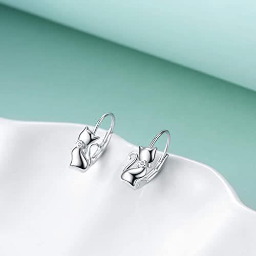 LUHE-Unicorn-EarringsCat-Earrings-Elephant-EarringsPanda-EarringsButterfly-EarringOwl-EarringsCoala-Bear-EarringsSterling-Silver-Animal-Leverback-Dangle-Earrings