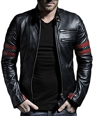 brandMe Mens Genuine Leather Pure Lambskin Biker Jacket MM130