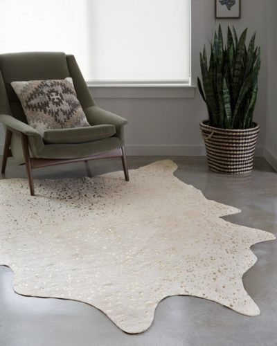 Loloi-II-Bryce-Collection-Faux-Cowhide-Area-Rug-3-10-x-5-Ivory-Champagne