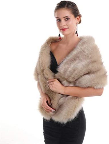 Lucky-Leaf-Women-Luxurious-Large-Winter-Faux-Fur-Scarf-Wrap-Collar-Shrug-for-Lady-Poncho-Wedding-Dinner-Party.
