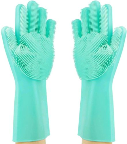 Magic-Dishwashing-Cleaning-Sponge-Gloves-Reusable-Silicone-Brush-Scrubber-Gloves-Heat-Resistant-for-Dishwashing-Kitchen-Bathroom-Cleaning-Pet-Hair-Care-Car-Washing-Green