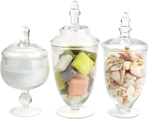 Mantello-Decor-Glass-Apothecary-Jars-Clear-Small-Set-of-3