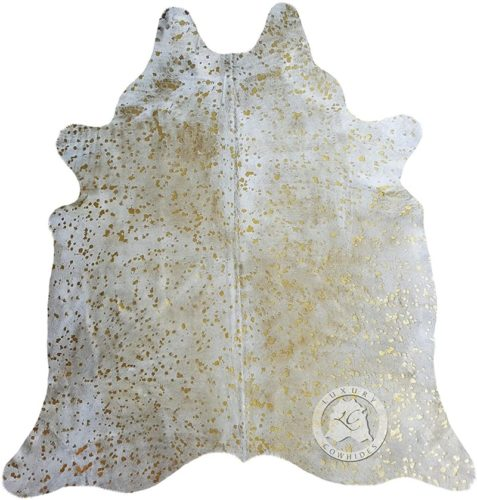 Metallic-Devore-Gold-on-Off-White-Cowhide-Rug-from-Luxury-COWHIDES
