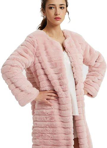 NEW-DANCE-Womens-Short-Faux-Fur-Coat-Long-Sleeve-Luxury-Pink-Winter-Parka-Outwear