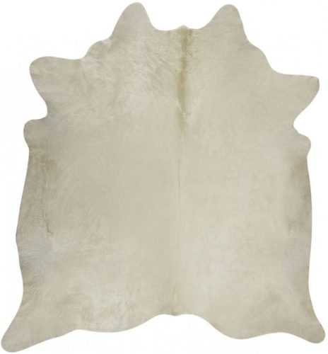 RODEO Natural White Cowhide Rug (6X7)