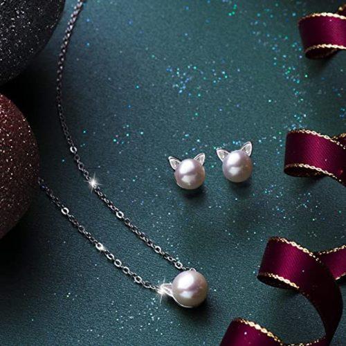 S.Leaf-Cat-Earrings-Pearl-Earrings-Sterling-Silver-Studs-Earrings-for-Women.