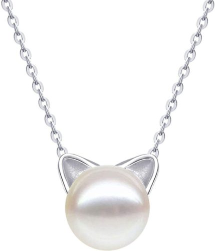 S.Leaf-Sterling-Silver-Cat-Necklace-Freshwater-Cultured-Pearl-Cat-Collarbone-Charm-Necklace