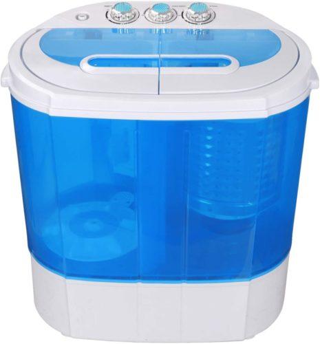 SUPER-DEAL-Portable-Compact-Washing-Machine-Mini-Twin-Tub-Washing-Machine-with-WasherSpinner-Gravity-Drain-Pump-and-Drain-Hose