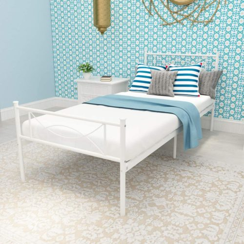 SimLife Metal Bed Frame Solid 6 Legs Two Headboards
