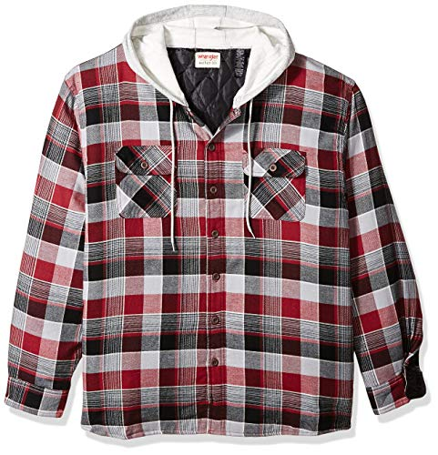 Wrangler-Authentics-Men's-Long-Sleeve-Quilted-Lined-Flannel-Shirt-Jacket-with-Hood