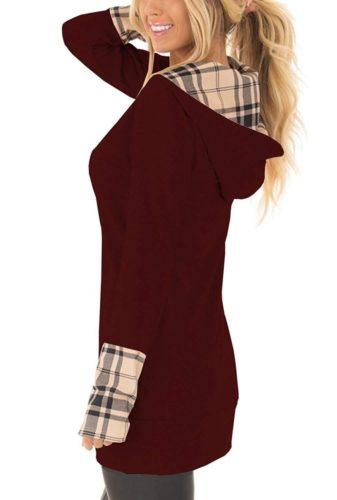 Yingkis-Womens-Long-Sleeve-Plaid-Hoodies-Tunic-Tops-Button-Cowl-Neck-Casual-Slim-Blouse