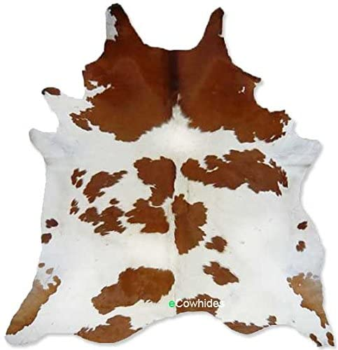 eCowhides-Brown-and-White-Brazilian-Cowhide-Area-Rug-Cowskin-Leather-Hide-for-Home-Living-Room-Large-6-x-6-ft