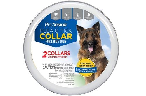 PETARMOR 2 Count Flea & Tick Collars for Dogs