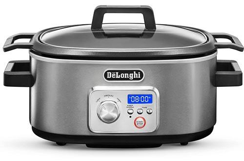 De'Longhi CKS1660D Livenza Programmable Slow Cookers with Stovetop-Safe Pot