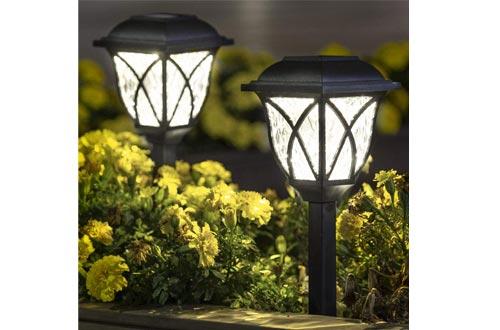 YFeinei Solar Lights Outdoor Pathway Lights, Waterproof LED Solar Garden Lights for Outdoor Patio, Yard, Walkway, Lawn,Garden Landscape, Driveway (2/6 Pcs)