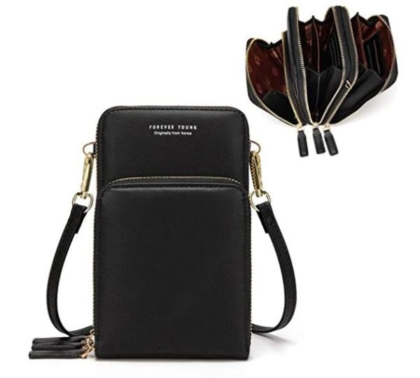1. Small Crossbody Cell Phone Purse for Women, Mini Messenger Shoulder Bag Wallet with Credit Card Slots