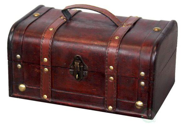 1. Vintiquewise(TM) Decorative Treasure Box - Wooden Trunk Chest