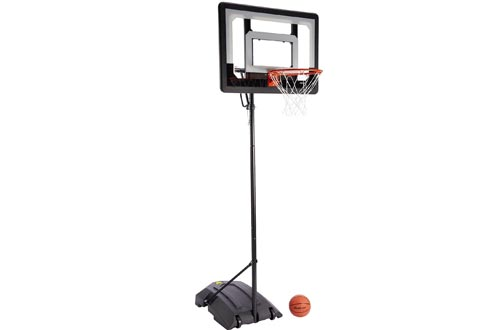 SKLZ Pro Mini Hoops Basketball System with Adjustable-Height Pole and 7-Inch Ball