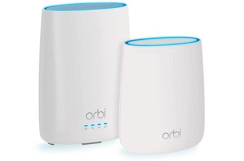 NETGEAR Orbi Built-in-Modem Whole Home Mesh WiFi System with all-in-one cable modem and WiFi routers and single satellite extender with speeds up to 2.2 Gbps over 4,000 sq. feet, AC2200 (CBK40)