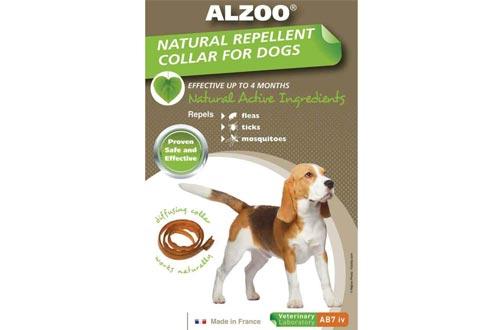 Alzoo Natural Flea & Tick Medium Dog Collars