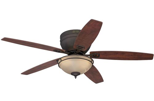 Westinghouse Lighting 7209600 Carolina 52-Inch Indoor Ceiling Fans, Light Kit with Amber Alabaster Bowl, Oil Rubbed Bronze with LED Bulbs