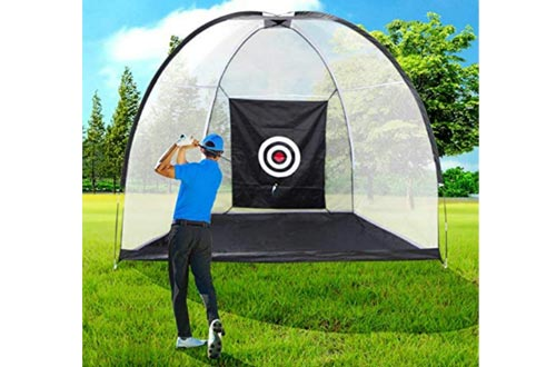 Golf Hitting Nets Driving Range Golf Practice Nets for Backyard Indoor Use with Target Carry Bag