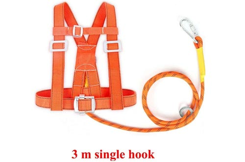 IhDFR Fall Protection Harness, Safety Fall Arrest Harnesses for Tree Rock Climbing, Mountaineering, Fire Rescue, Higher Level Caving, Rappelling, Sport Climbing