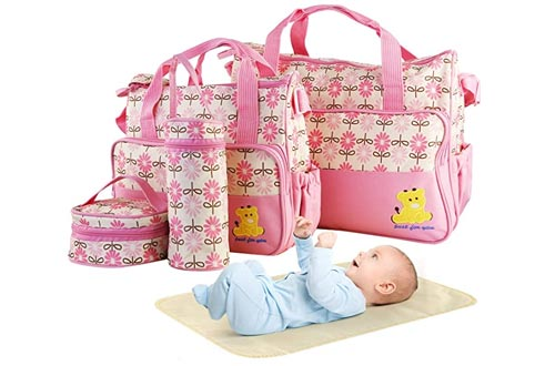 5PCS Diaper Bags Tote Set - Baby Bags for Mom