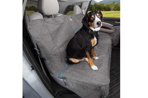 Kurgo Dog Seat Covers | Car Bench Seat Covers for Pets | Dog Back Seat Covers Protector | Water Resistant for Dogs | Contains Seat Anchors | Scratch Proof | Cars | Wander Bench Seat Covers Style