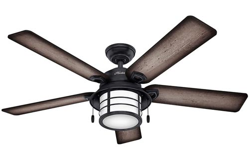 """Hunter Fans Company Hunter 59135 Nautical 54"""" Ceiling Fans from Key Biscayne collection in Bronze/Dark finish, Weathered Zinc"""