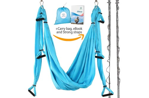 AR Brend Aerial Yoga Swings, Antigravity Yoga Hammock, Aerial Trapeze, Sling, Inversion Tool, Kids and Adult Aerial Yoga
