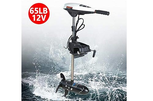 Electric Trolling Motors 65lb 12V 660w Electric Thrust Trolling Outboard Motors Engine Rubber Inflatable Fishing Boat Engine Motor (USA Stock)