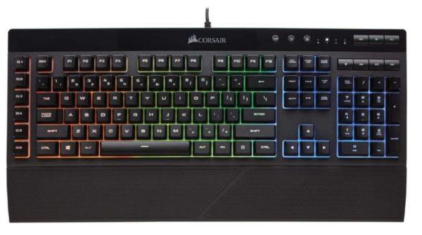 2. Corsair K55 RGB Gaming Keyboard – IP42 Dust and Water Resistance