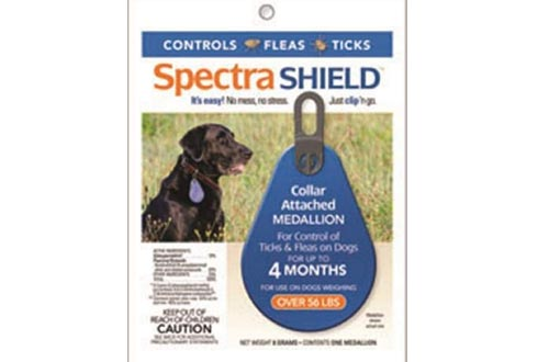 Durvet Spectra Shield Collars Attached Medallion, 56-Pound and Over