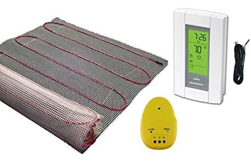 15 Sqft Mats, Electric Radiant Floor Heat Heating System with Aube Digital Floor Sensing Thermostat