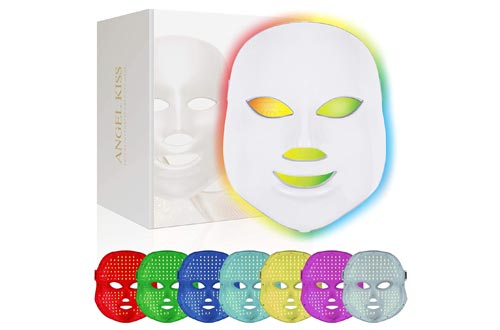 Face Led Masks -Angel Kiss 7 Color Blue Red Light Therapy Photon Masks Facial Skin Rejuvenation Firming Lift PDT Skin Care Masks