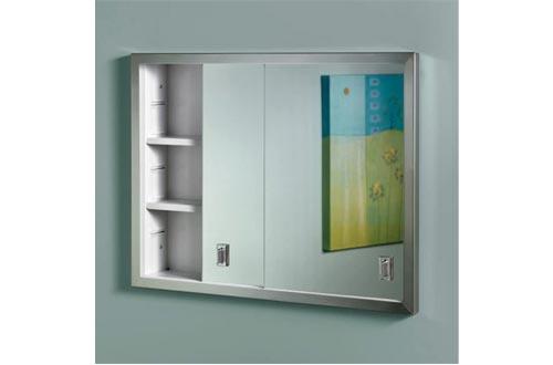 Jensen B703850 Contempora 2-Door Medicine Cabinets, 24-Inch by 19-Inch, Stainless Steel