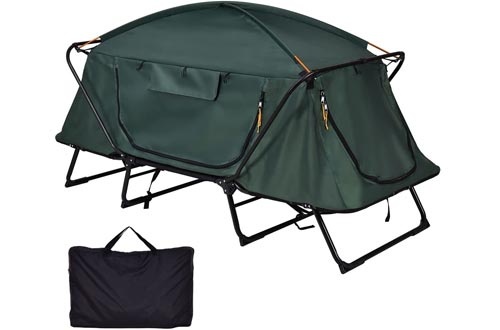 Heize best price Elevated Camping Tent Cots Waterproof Hiking Outdoor w Carry Bag - Folding 1 Person (U.S. Stock)