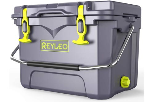 REYLEO Ice Chest | Portable Rotomolded Arctic Coolers Keeps Ice Up to 3 Days | Bear-Resistant 21-Quart Coolers