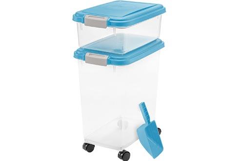 IRIS USA, Inc. 3- Piece Airtight Pet Food Storage Containers Combo