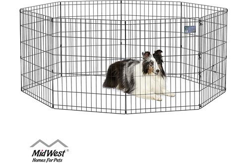 MidWest Homes for Pets Exercise Pens for Pets with Full Max Lock Door