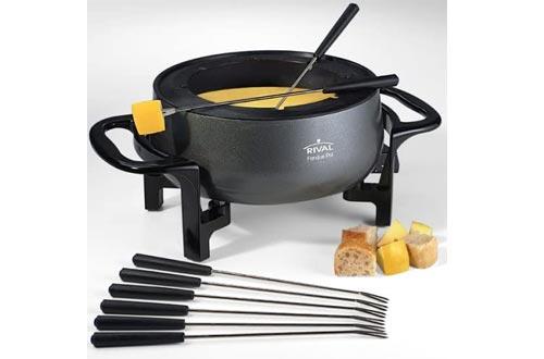 Rival FD300D 3-Quart Fondue Pots, Black