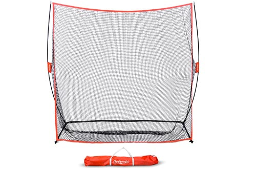 GoSports Golf Practice Hitting Nets | Choose Between Huge 10' x 7' or 7' x 7' Nets | Personal Driving Range for Indoor or Outdoor Use | Designed by Golfers for Golfers