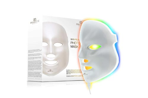 Project E Beauty LED Face Masks Light Therapy | 7 Color Skin Rejuvenation Therapy LED Photon Masks Light Facial Skin Care Anti Aging Skin Tightening Wrinkles Toning Masks