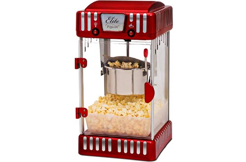 Maxi-Matic EPM-250 Tabletop Kettle Popcorn Popper Machines, Red