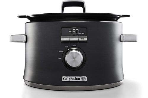 Calphalon Digital Sauté Slow Cookers, Dark Stainless Steel