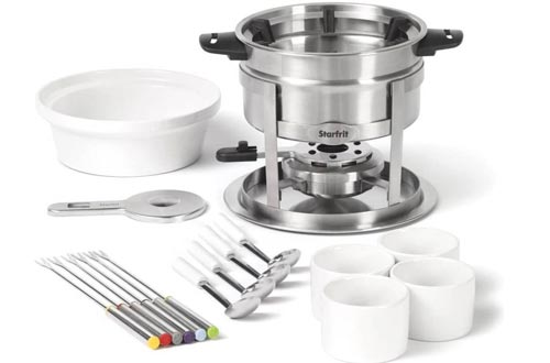 Starfrit 20-Piece Fondue Party Set   Includes: 1.7 qt Fondue Pots, Ceramic Bowl, (4) Ramekins, (6) Forks, (4) Spoons And More