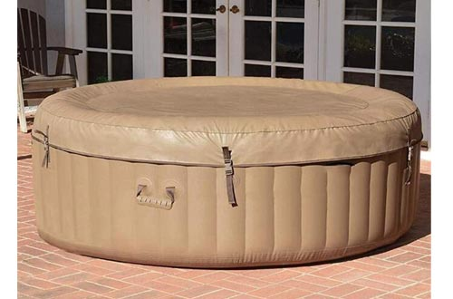 ZRXRY Inflatable Hot Tubs, Inflatable Bath Tubs, Inflatable Spa, 2 Person, Tan