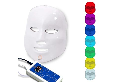 ermashine Pro 7 Color LED Masks for Face | Photon Red Light For Healthy Skin Rejuvenation Therapy | Collagen, Anti Aging, Wrinkles, Scarring | Korean Skin Care, Facial Skin Care Masks, LED Face Masks