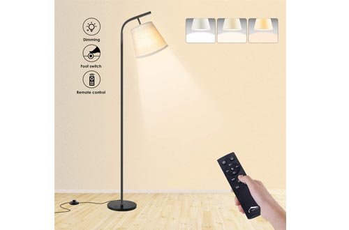 Wellwerks Arc Floor Lamps, Super Bright LED Torchiere Metal Floor Lamps, LED Floor Light with Remote Control,Standing Lamps with Stepless Dimmer for Living...